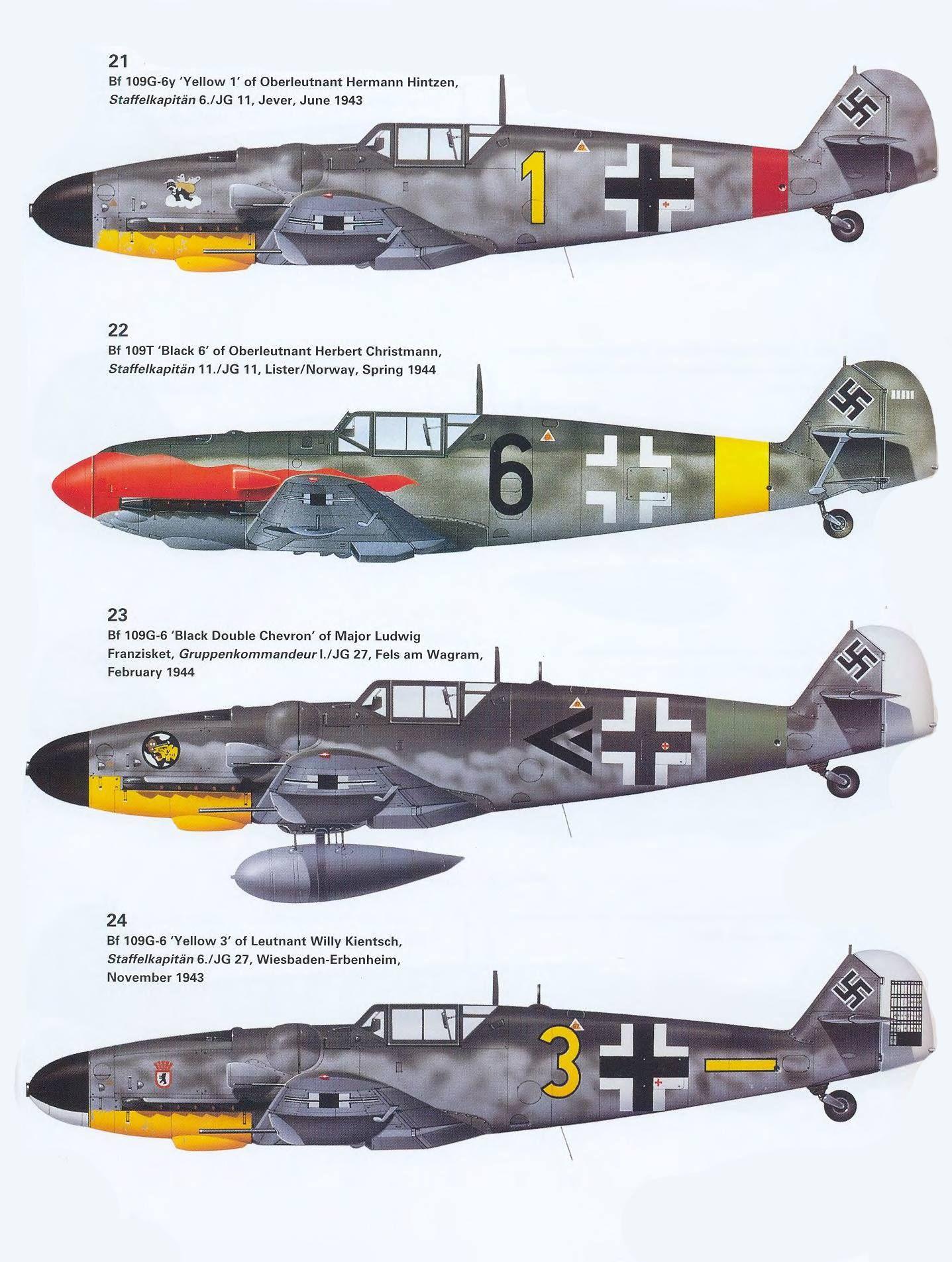 Luftwaffe Bf 109 | Luftwaffe planes, Luftwaffe, Wwii fighters
