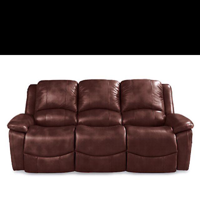 "The ""Owen"" end reclining sofa in walnut brown leather.  $2099.00  La-z-boy.com"