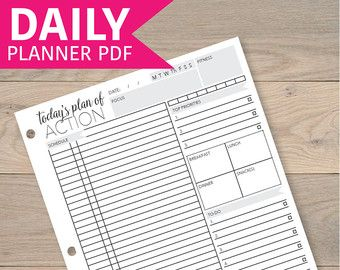Daily Planner Printable Daily Organizer Printable By Ellagantink