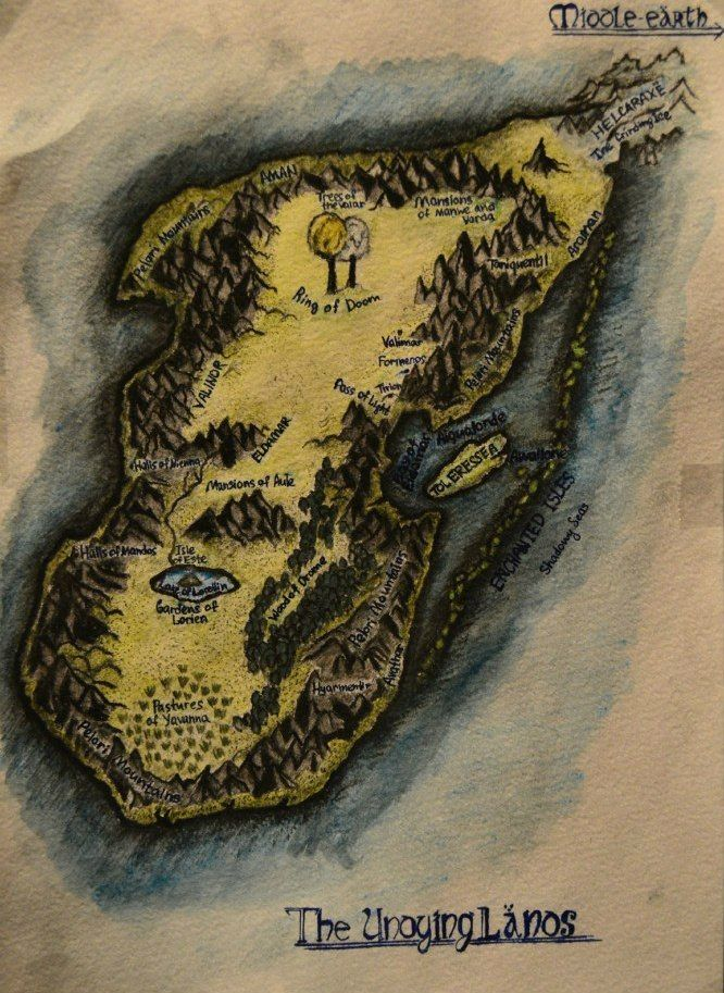 Map of Valinor (The Undying Lands) by StanislawRem.deviantart.com on @deviantART
