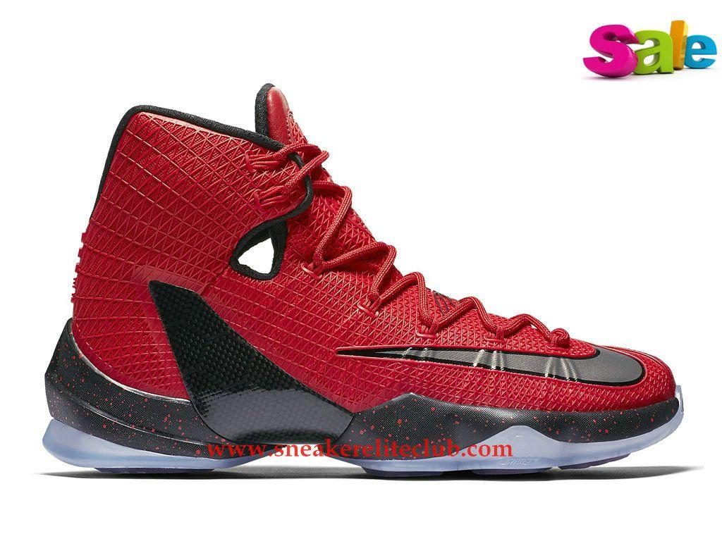 Chaussures Basket Nike LeBron XIII Elite Lebron James Sneaker Elite Pas  Cher Pour Homme Rouge/