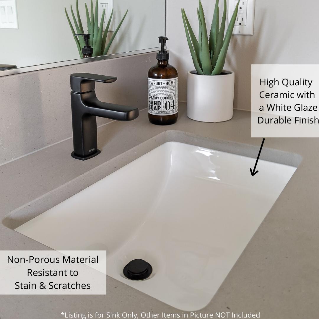 Under Mount Rectangular Bathroom Sink For Small Space Baths In 2020 Small Bathroom Sinks Small Sink Rectangular Sink Bathroom