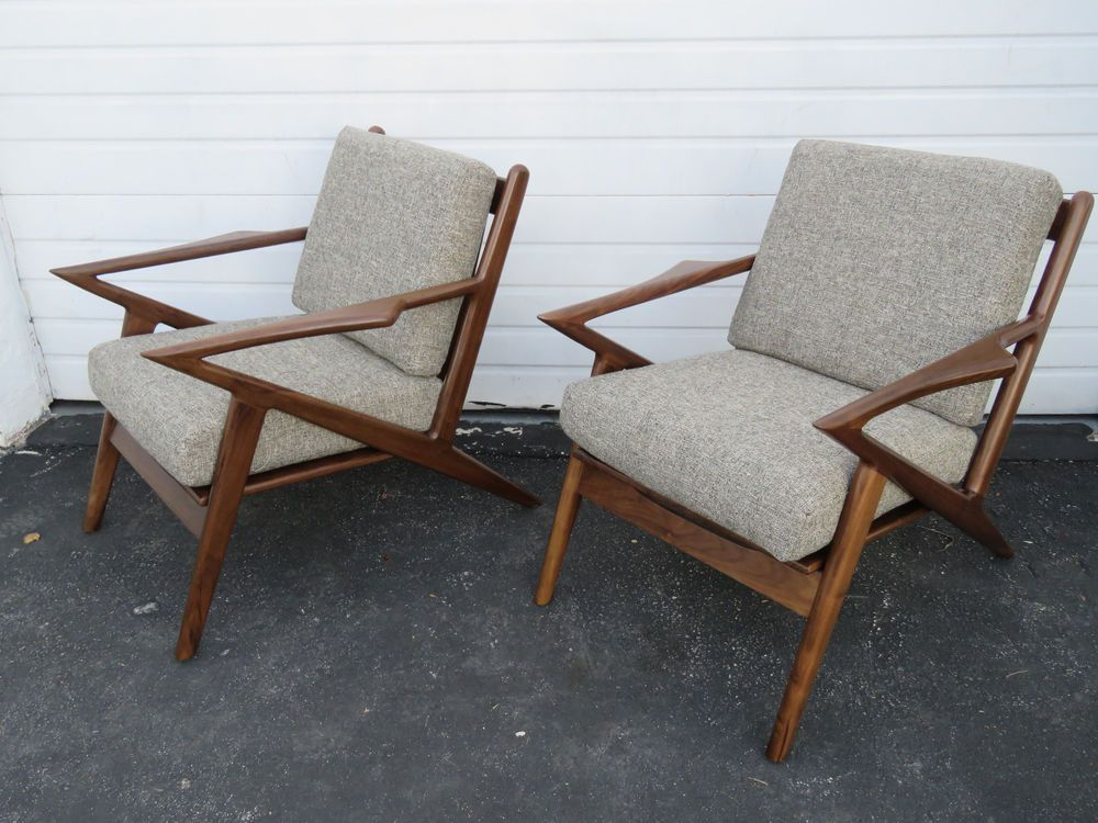 Retro Vintage Mid Century Style Pair Of Living Bed Room Lounge Z