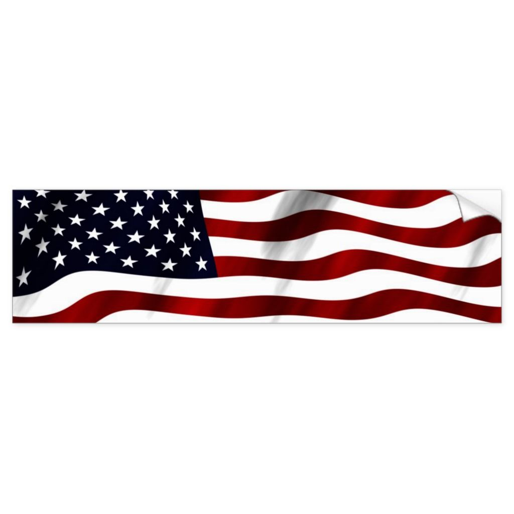 I Stand For The National Anthem American Flag USA Circle Bumper Window Sticker