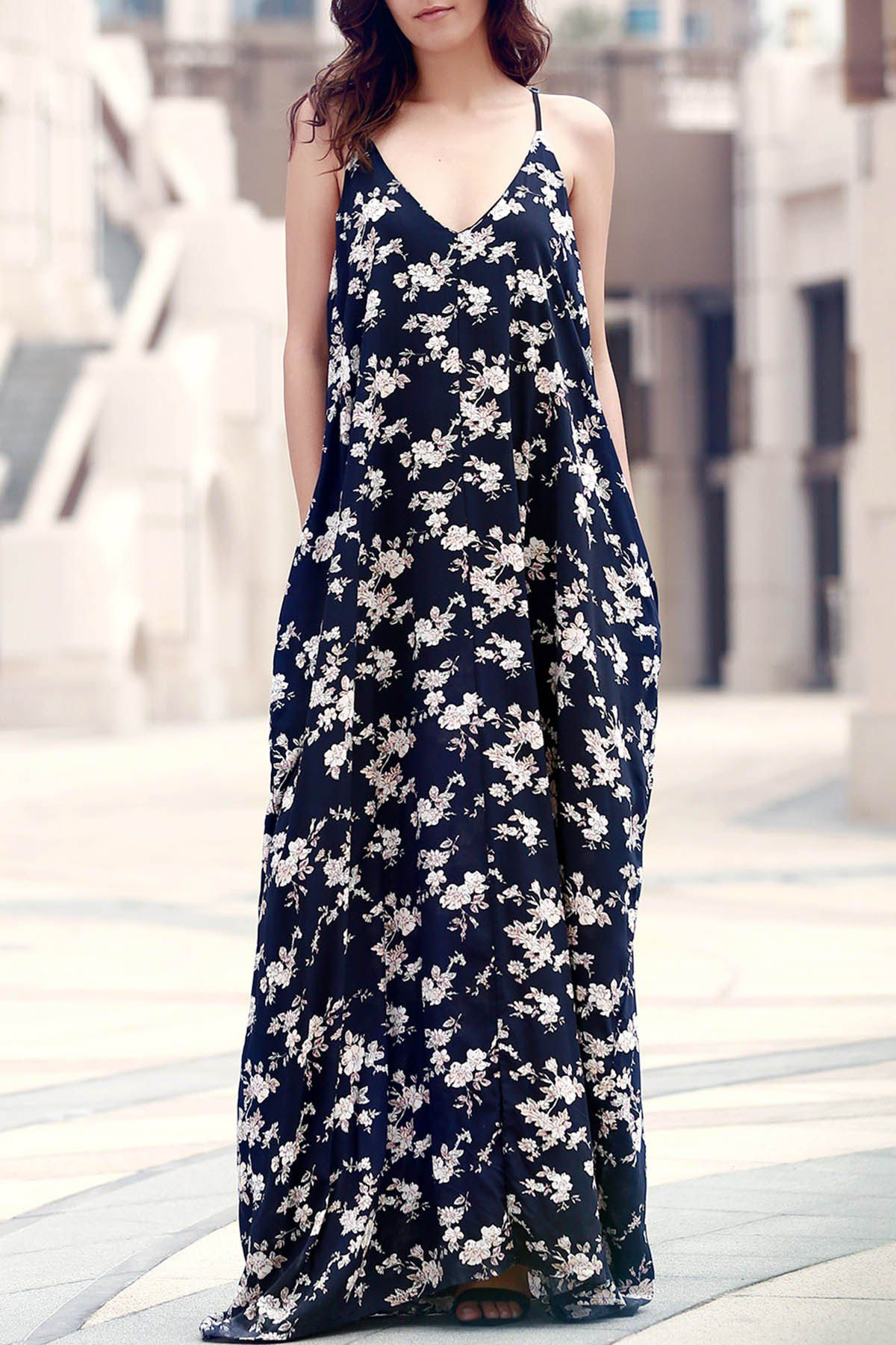 Floral print floorlength dress dream closet pinterest floor
