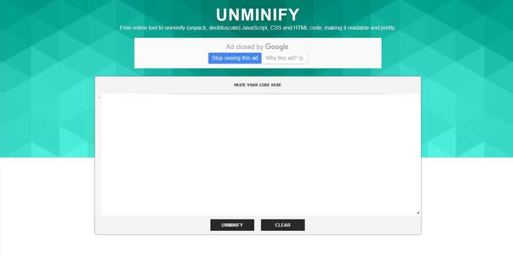 unminify | Unminify CSS Tools | Tools