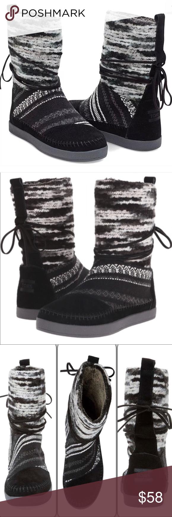 d9d26d68101 NWT Toms Nepal Black Suede Textile Boots Size 11 TOMS Nepal Suede ...