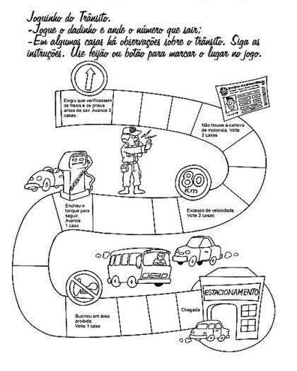 Desenhos Para Colorir De Educacao No Transito Com Imagens