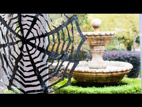 16+ Easy But Awesome Homemade Halloween Decorations (With Photo - spider web decoration for halloween