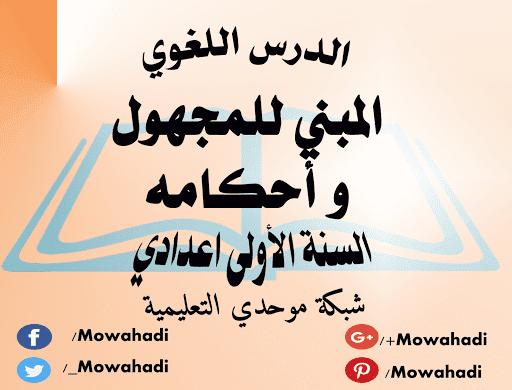 المبني للمجهول و أحكامه Arabic Calligraphy Calligraphy