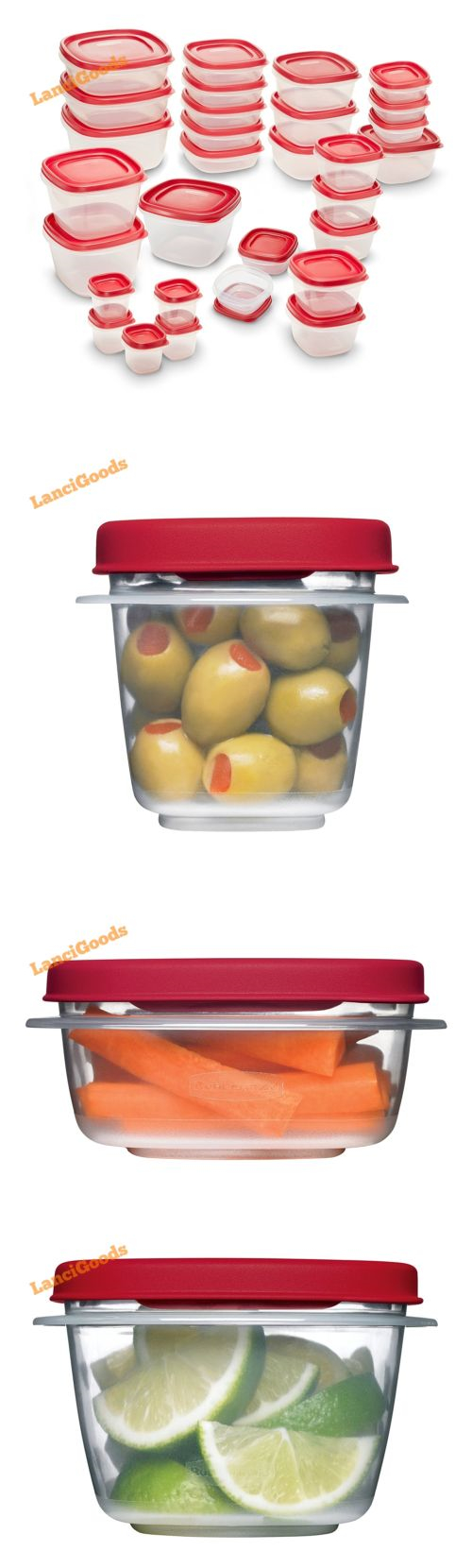 Rubbermaid Brilliance Food Storage Container Set 22 Piece Clear Magnificent Food Storage Containers 20655 Rubbermaid Easy Find Lids Food Inspiration
