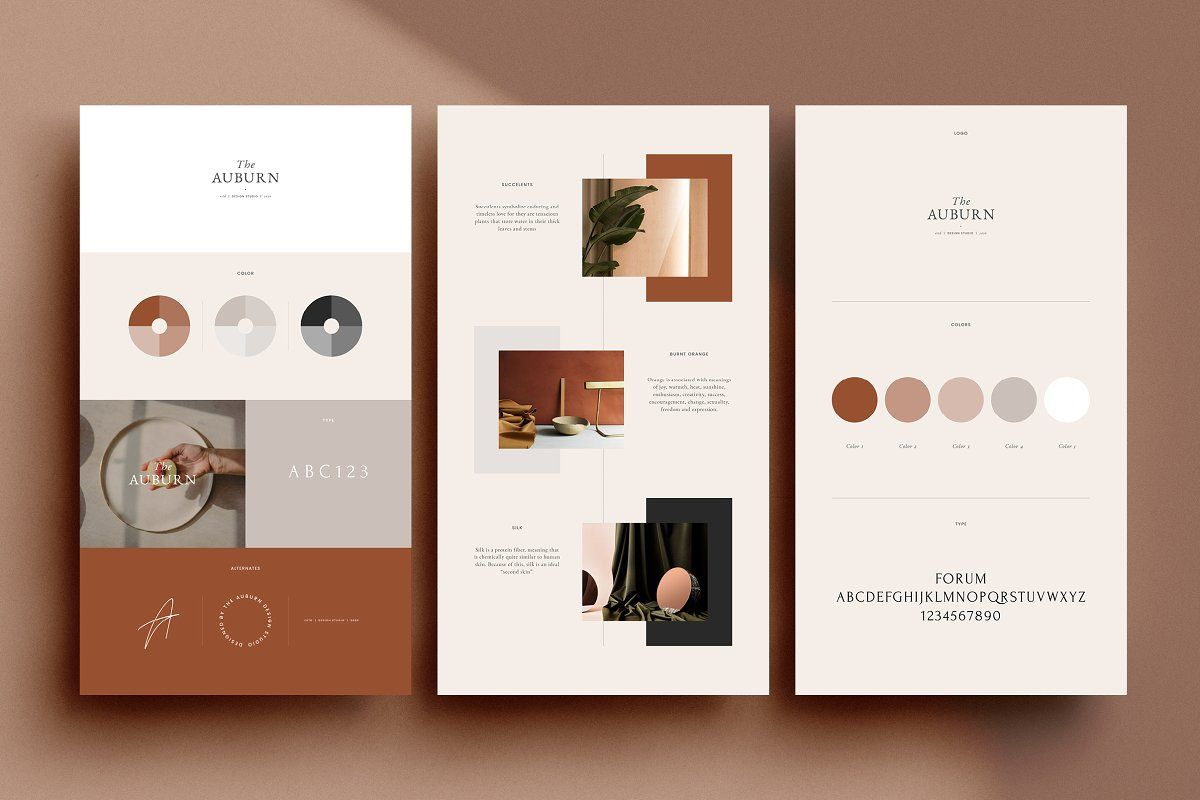 Auburn 24 Brand Sheets With Images Branding Template