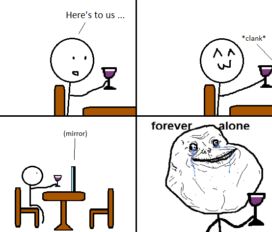 not a book but gosh i love forever alone memes