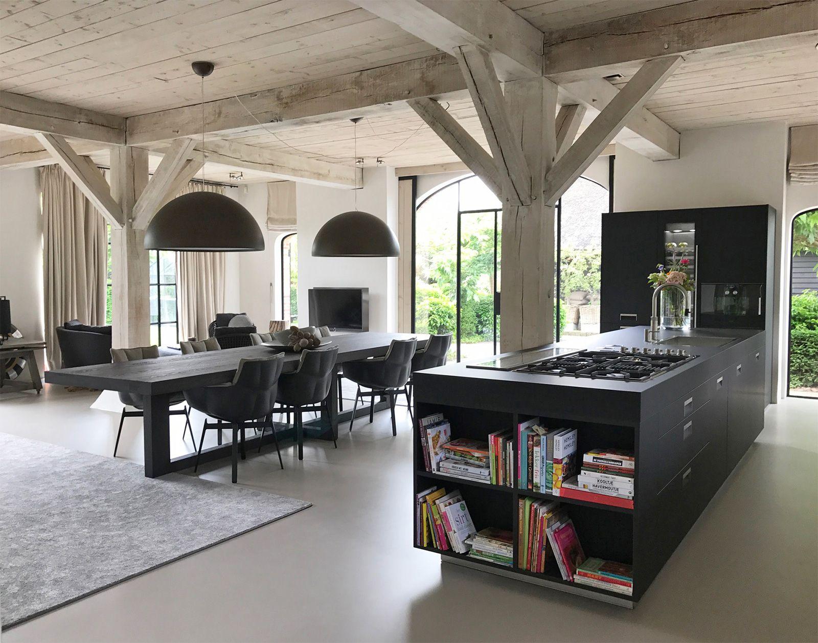 Gietvloer woonkeuken woonboerderij modern interiors modern and