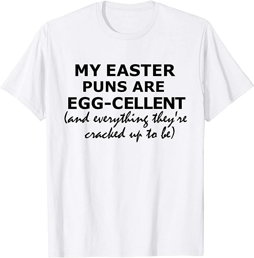 Easter Puns Funny Easter Joke T-Shirt Unisex Adults Black T-Shirt