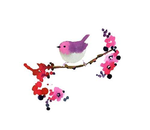 Watercolour birdie.