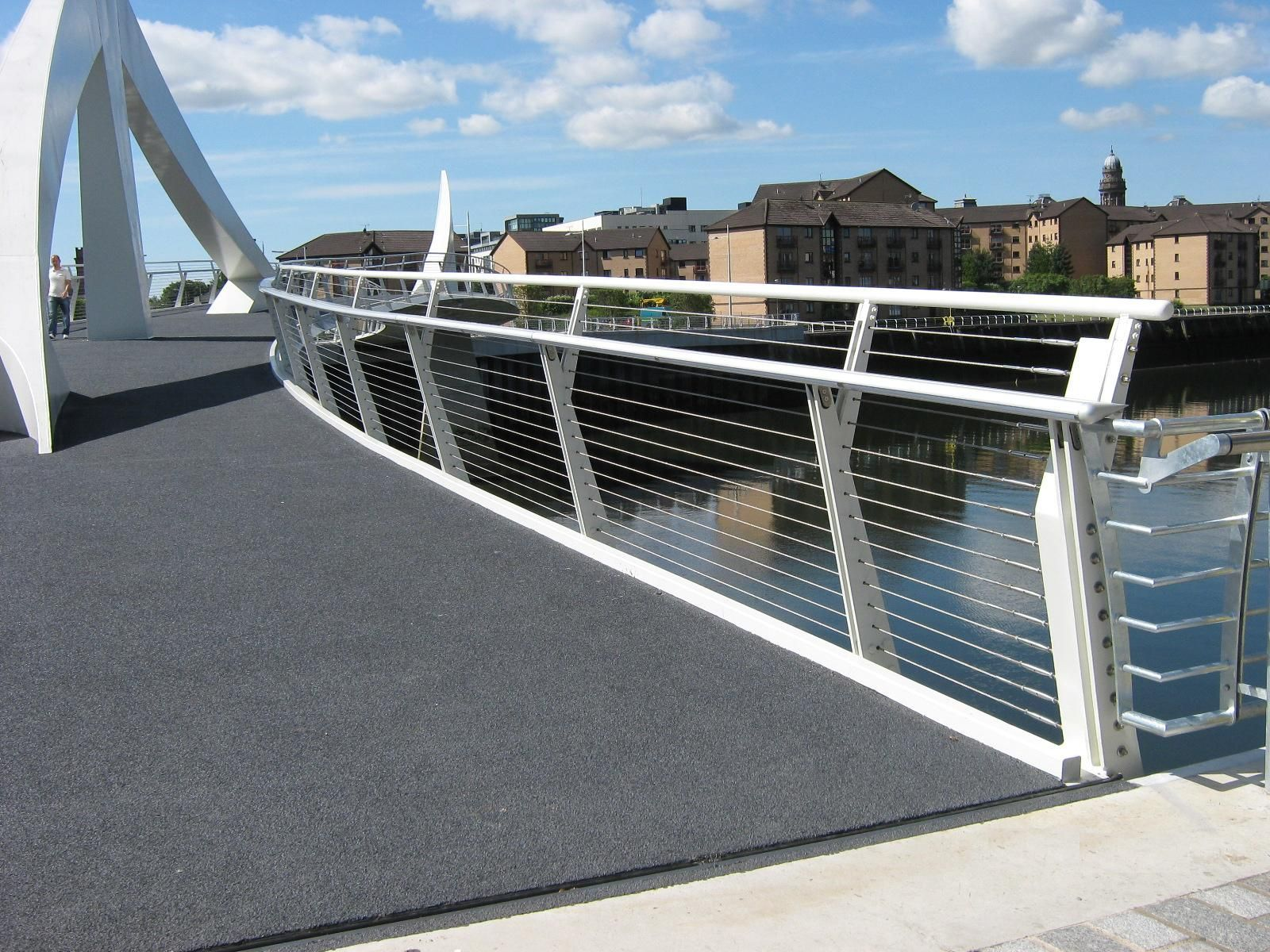 Our Stainless Steel Wire Ropes Being Used For A Bridge Balustrade Balustrade Balustrading Mmaarchitectu In 2020 Stainless Steel Wire Pedestrian Bridge Bridge Design