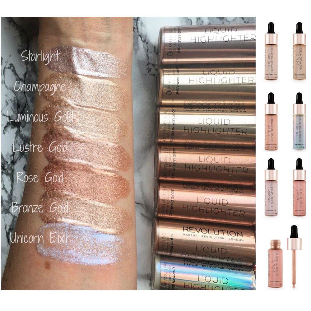 Makeup Revolution Highlighter Liquid Highlight Drops Vegan