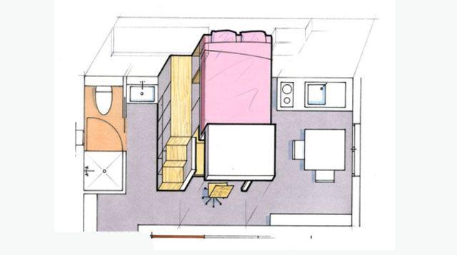 Superbe Comment Amenager Une Chambre De 12m2 Floor Plans Studio Diagram