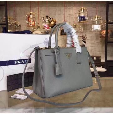 9339cca470 Prada Saffiano Leather Tote P2274 grey