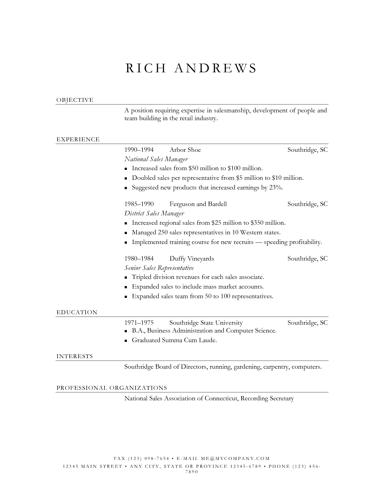 Resume Elegant Resume elegant resume format format