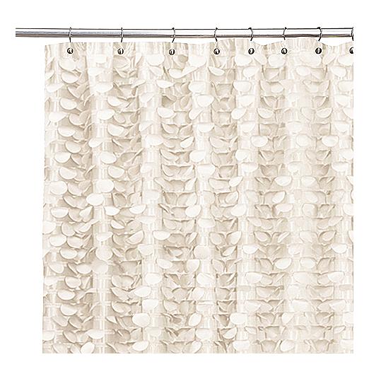 Gigi Ivory Shower Curtain Fabric Shower Curtains Curtains