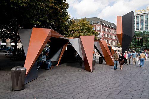 triangle facette structure g om trique aachen bus shelter projet d ch terie pinterest. Black Bedroom Furniture Sets. Home Design Ideas