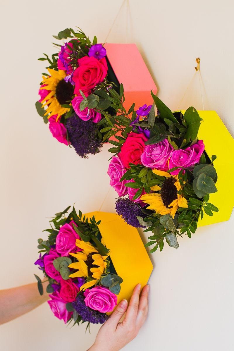 Hexagonal Wall Planters http://www.trendhunter.com/trends/diy-flower-box … #ArtDesign