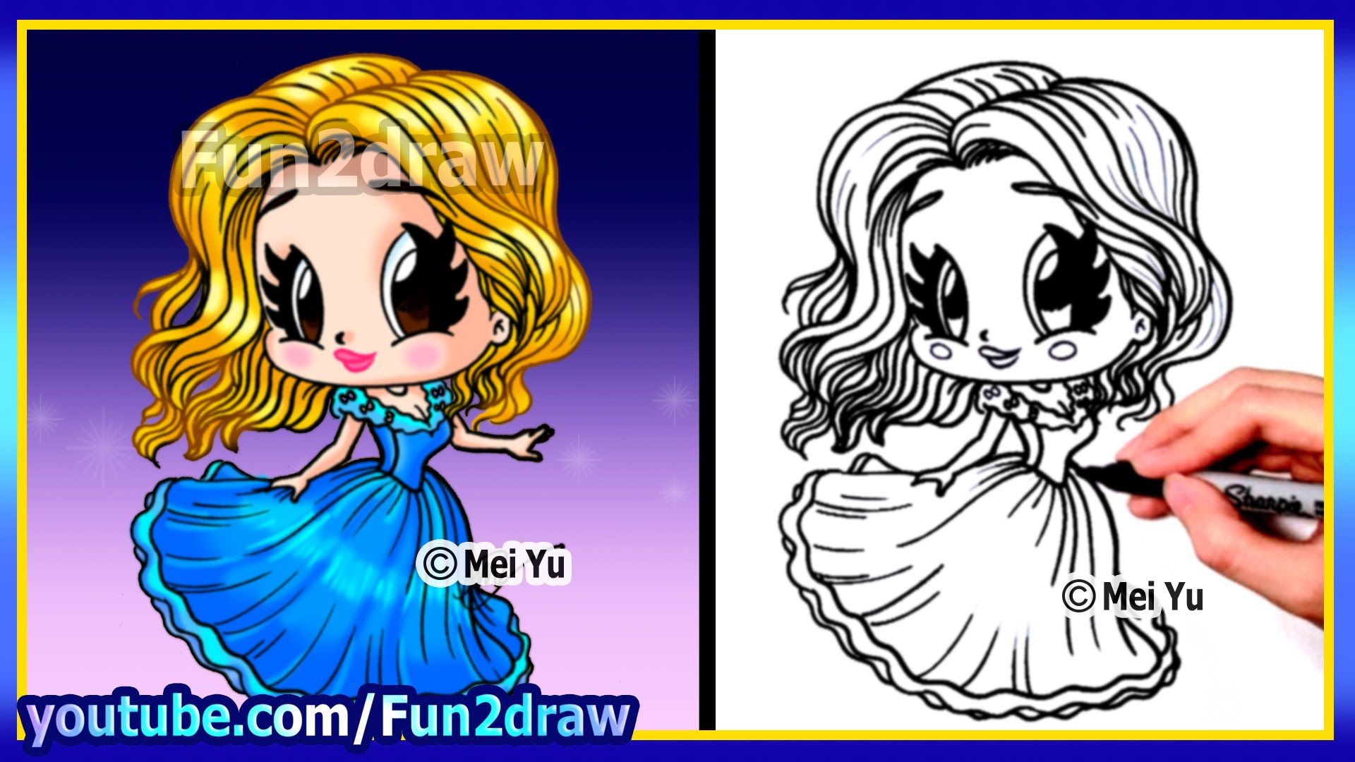 How to draw a cinderella princess fun2draw this artist for Fun to draw people