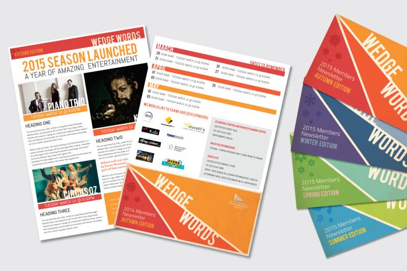 creative newsletter design templates google search non profit