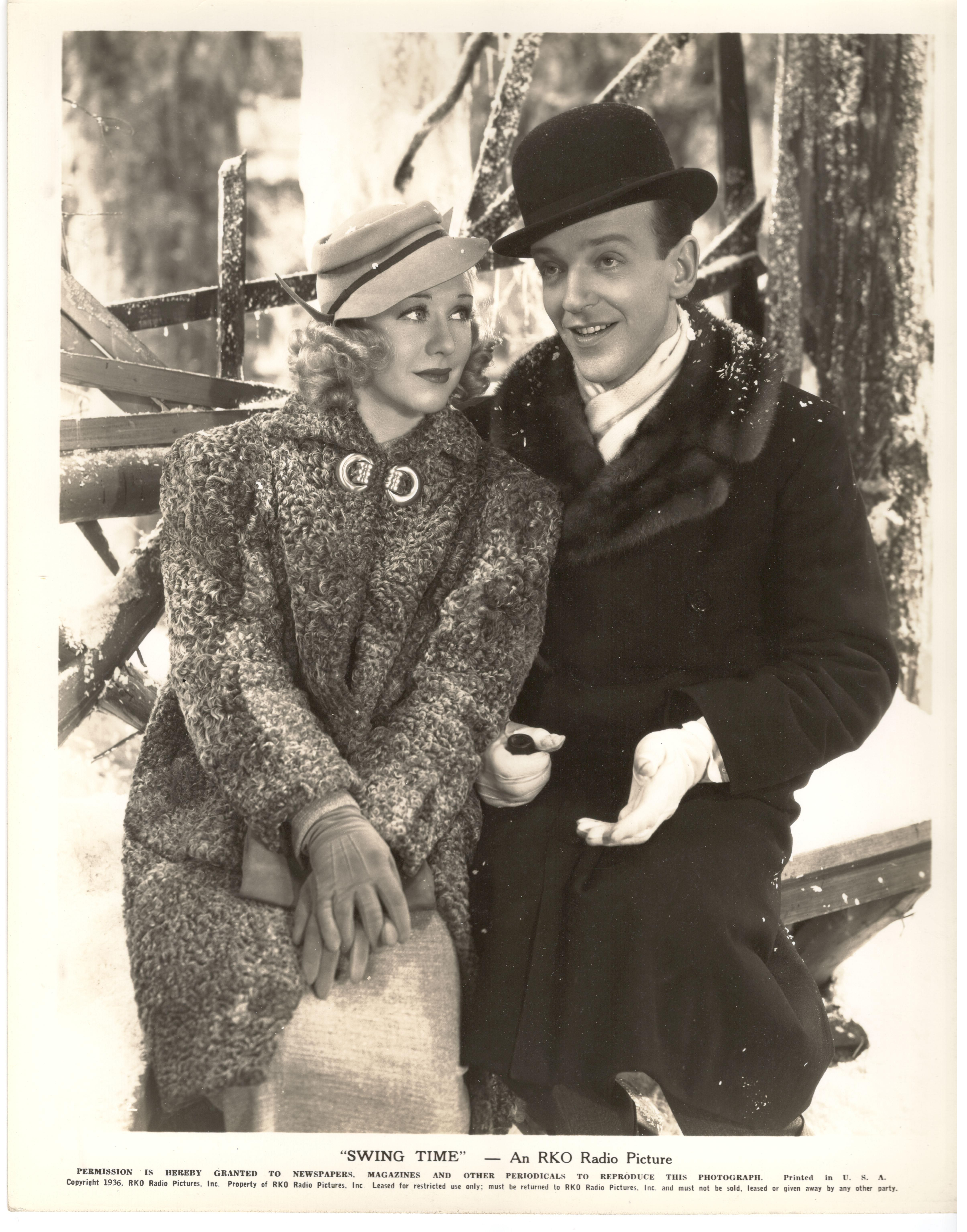 Ginger Rogers and Fred Astaire Swing Time Fotos retro