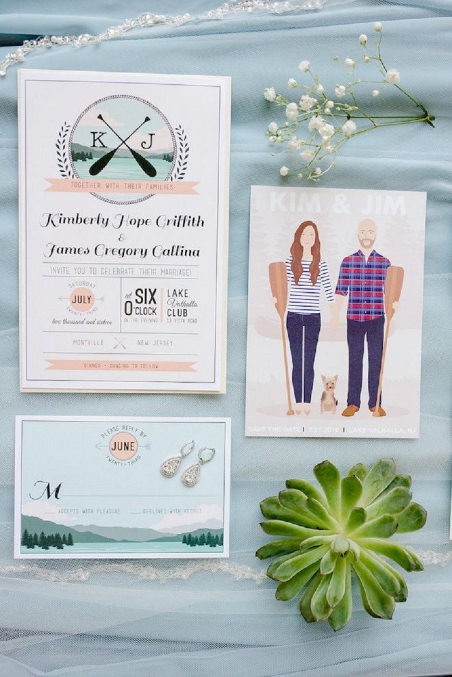 Diy Wedding Lakeside Invitation Suite And Creative Inspiration