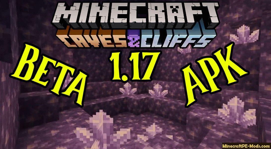 Download Minecraft Pe Beta 1 17 0 Mcpe Apk Cave Update In 2021 Minecraft Pe Minecraft 1 Minecraft