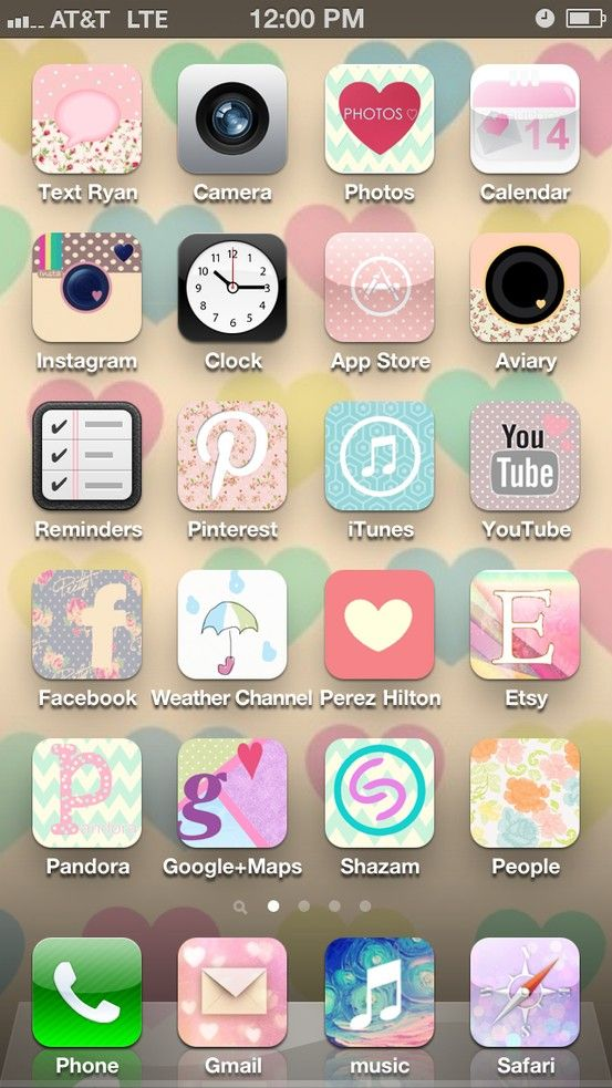 Make Your Iphone Home Screen Pretty Free App Cocoppa Love App Iphone Iphone Wallpaper