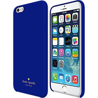 Kate Spade New York Wrapped Case For Iphone 6 Plus Emperor Blue Leather Verizon Wireless Phone Case Accessories Phone Cases Iphone6 Kate Spade Phone Case