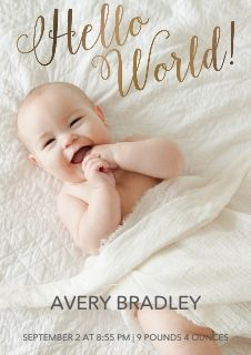 newborn announcement cards