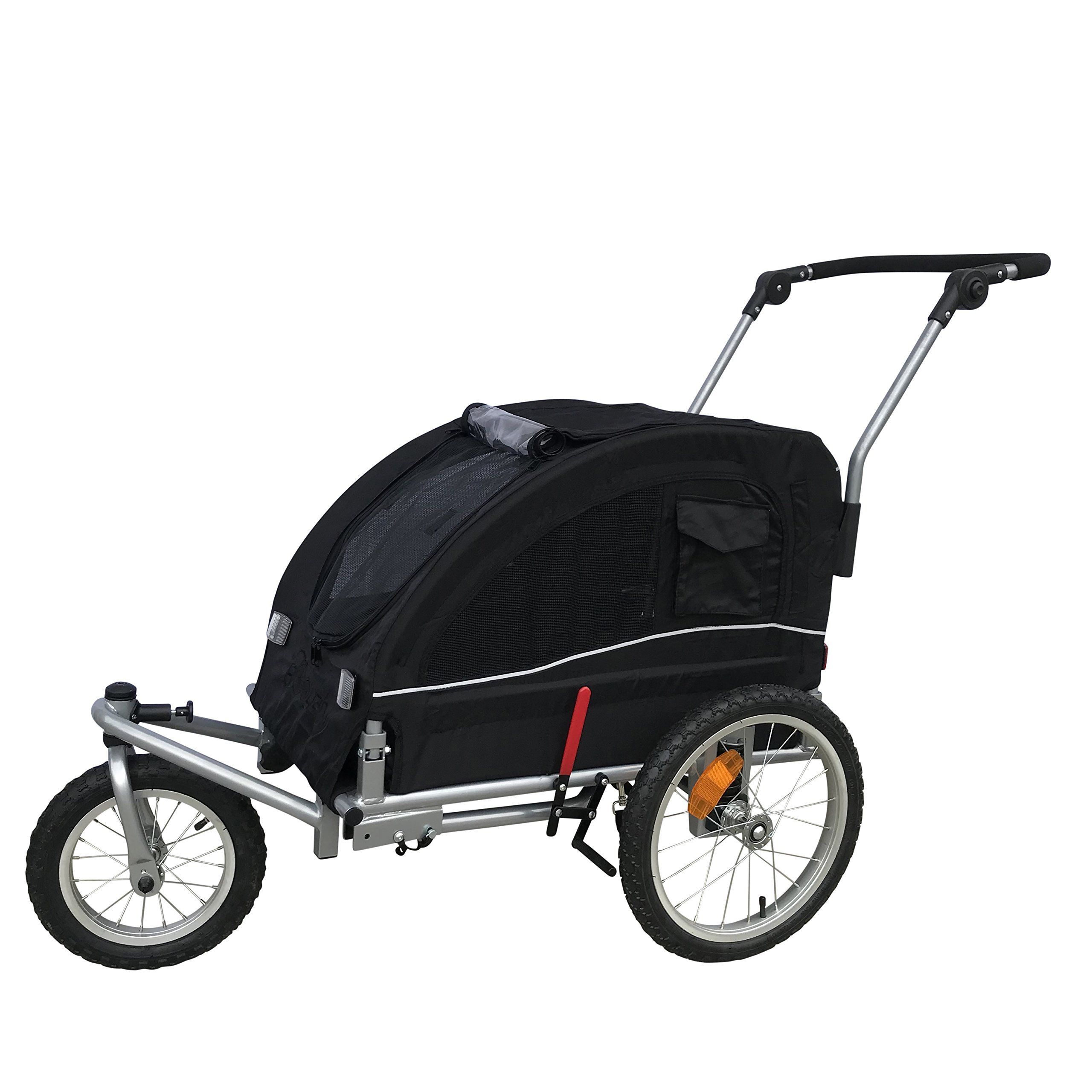 Booyah Medium Dog Stroller andamp; Pet Bike Trailer with