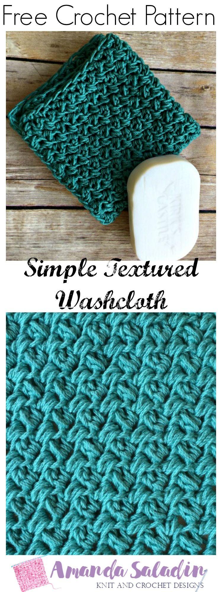 Simple Textured Washcloth - Free Crochet Pattern | Crochet delight ...