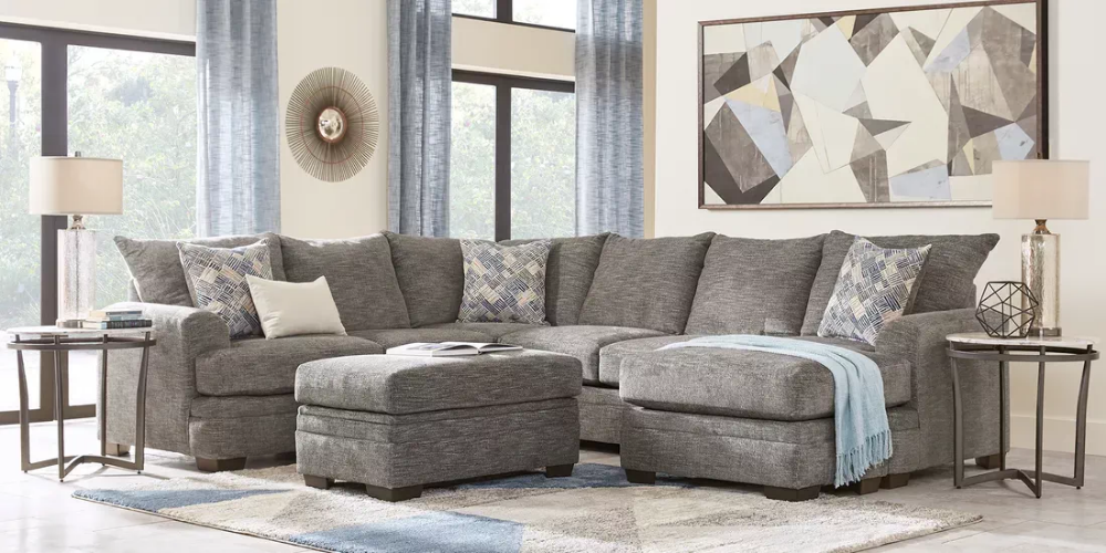 Copley Court Pewter 3 Pc Sectional Living Room Rooms To Go