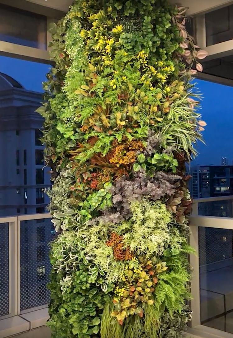 How to diy  faux living wall pillar also its real this time in rh pinterest