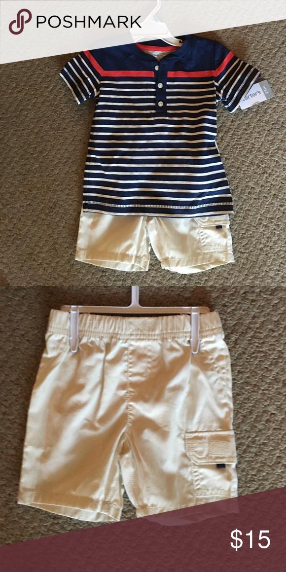 41a7bdff4 Super cute shorts and shirt set Brand new carters baby boy shirt and shirts  set.