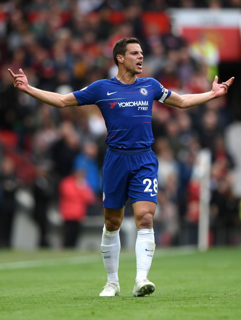 Cesar Azpilicueta Of Chelsea Reacts During The Premier League Match Premier League Matches Premier League Cesar Azpilicueta
