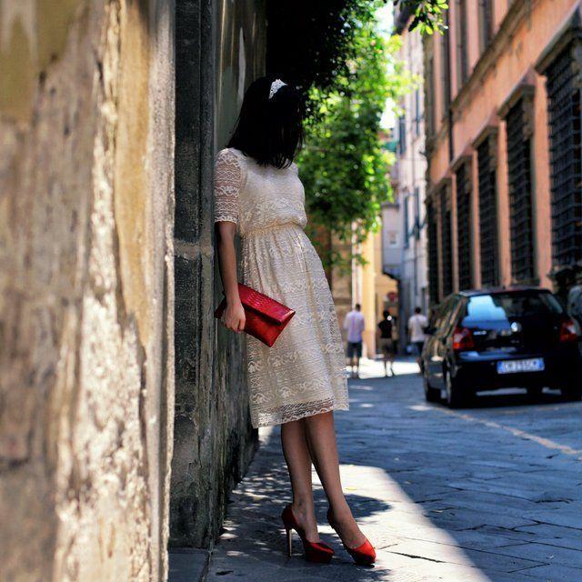Midi Lace Dress by ASOS