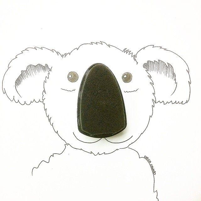 Buongiornoooo Stavo lucidando gli stivali et voilà con la #spugna per lucidare nasce un bel #koala. #Buona #Domenica a tutti! #vscoitalia #vscogood #vscocam #instagramitalia #instagraphic #sketch #Illustrazione #goodmorning #buongiorno #diegocusano #skretch #immagination