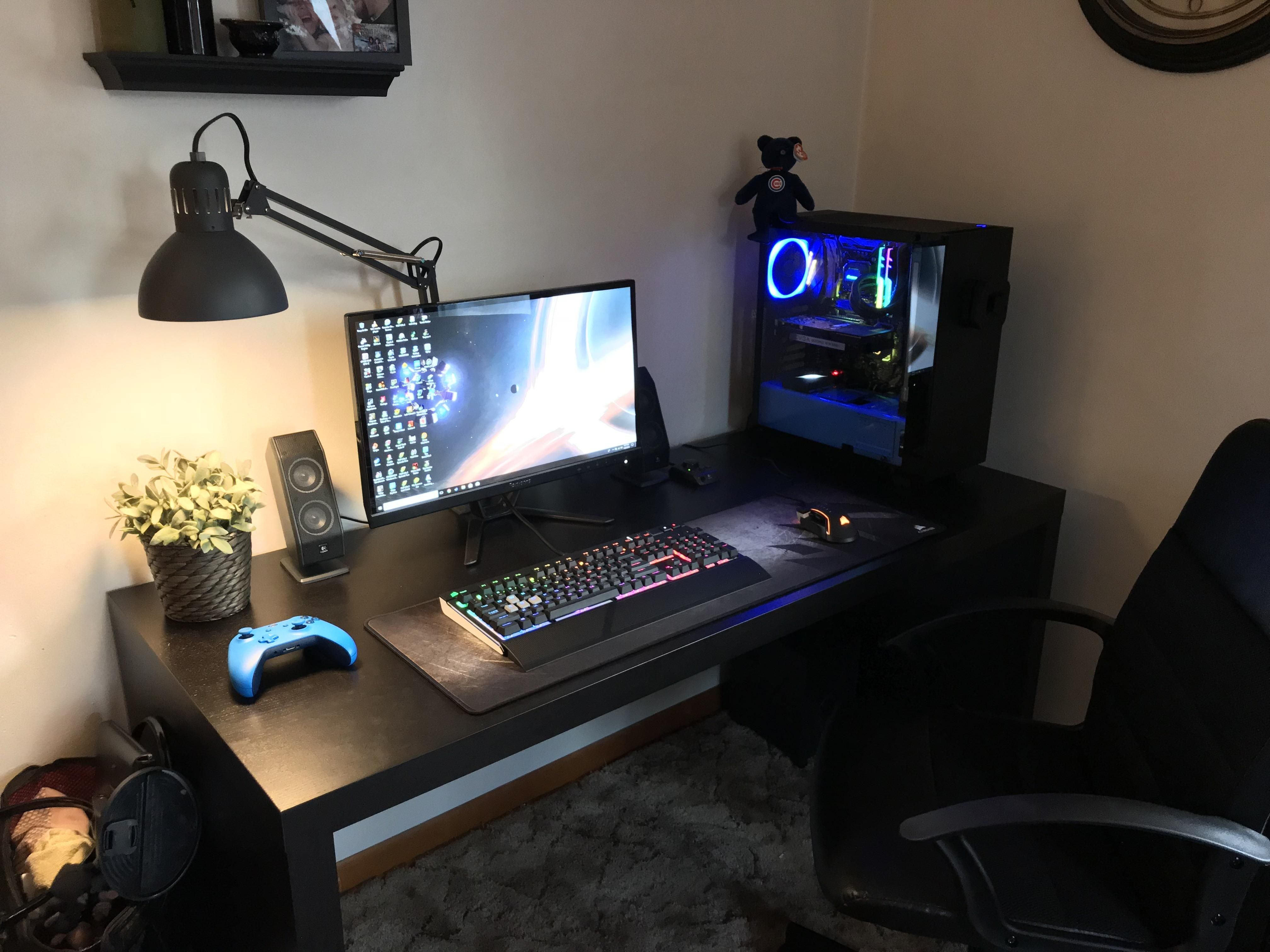 Microcenter and Ikea are my weakness. Desk setup, Pc
