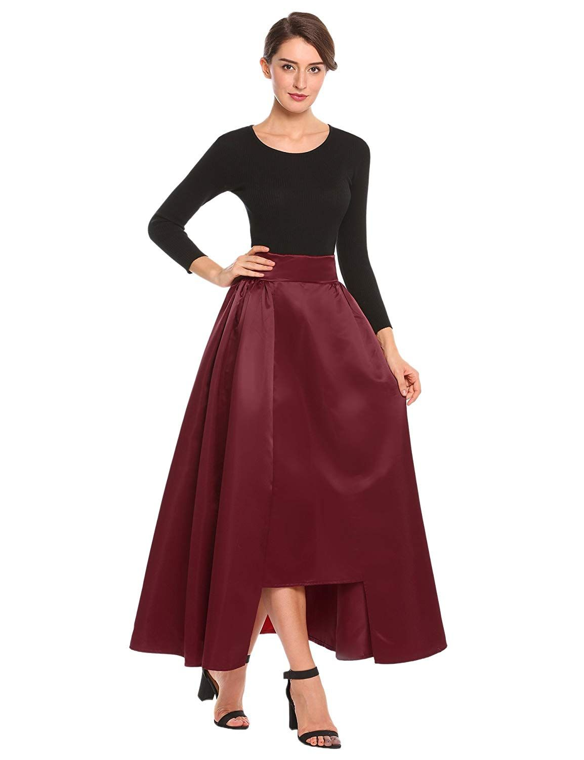 f217cc5ce Long Maxi Skirts · Womens Fashion · HIGH QUALITY MATERIALS--- Smooth fabric,  soft and breathable, silky, no