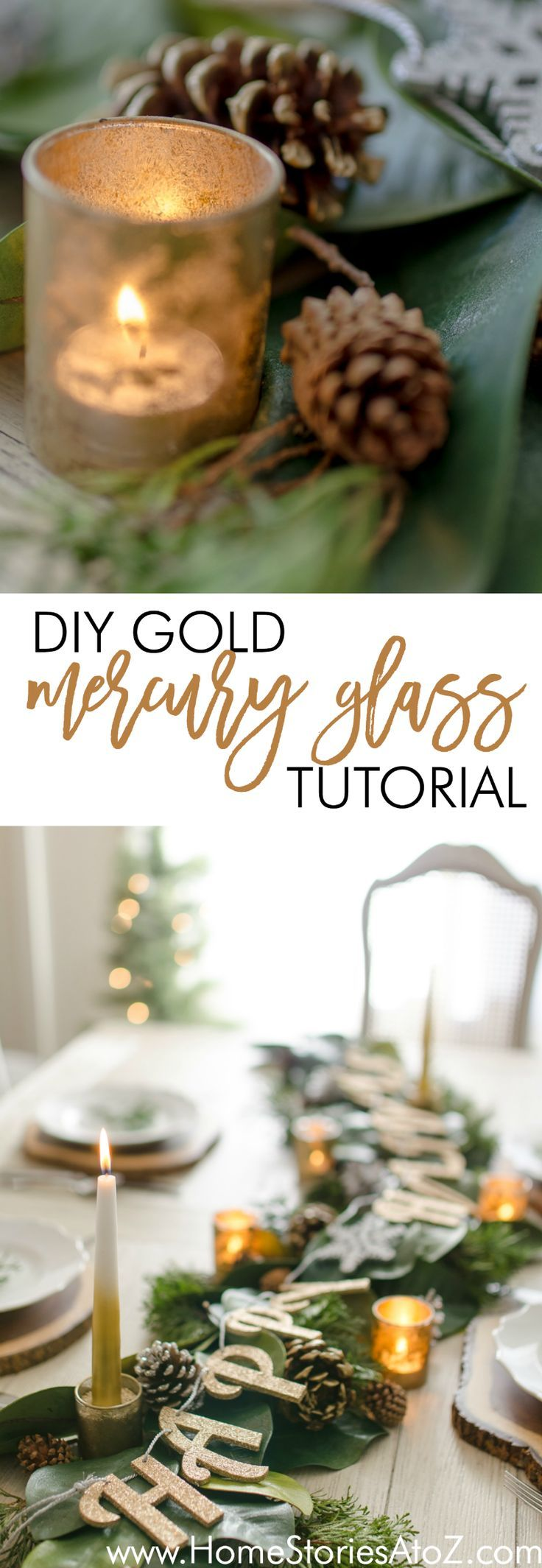 DIY Mercury Glass Tutorial - Home Stories A to Z