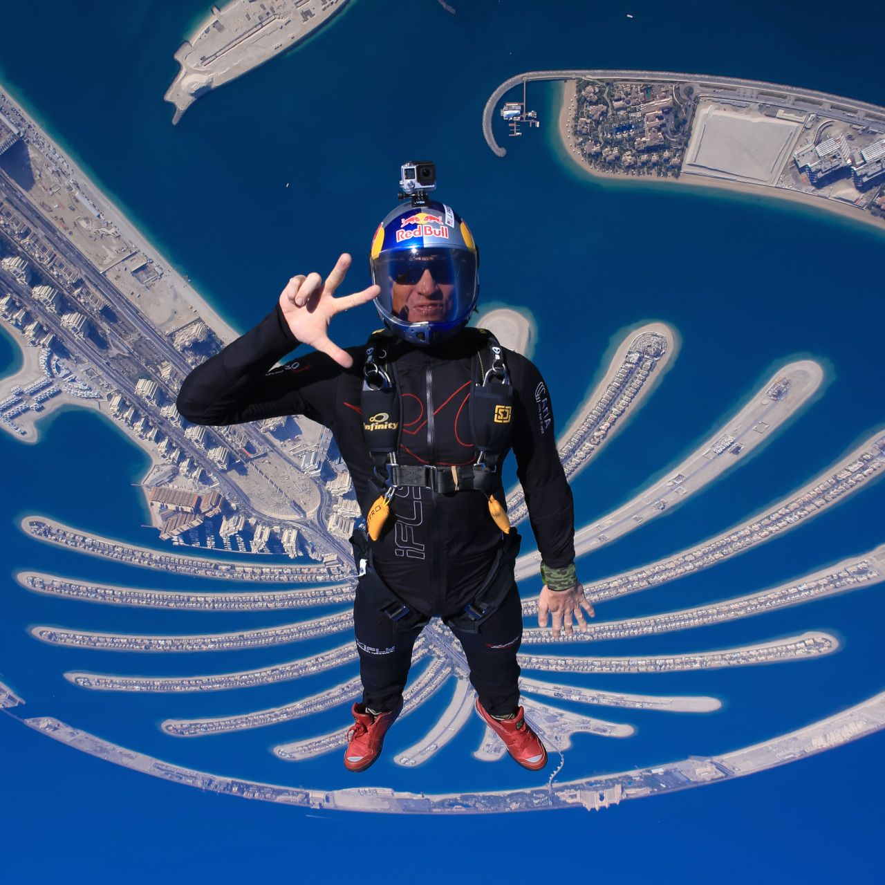 Skydiving And Palm