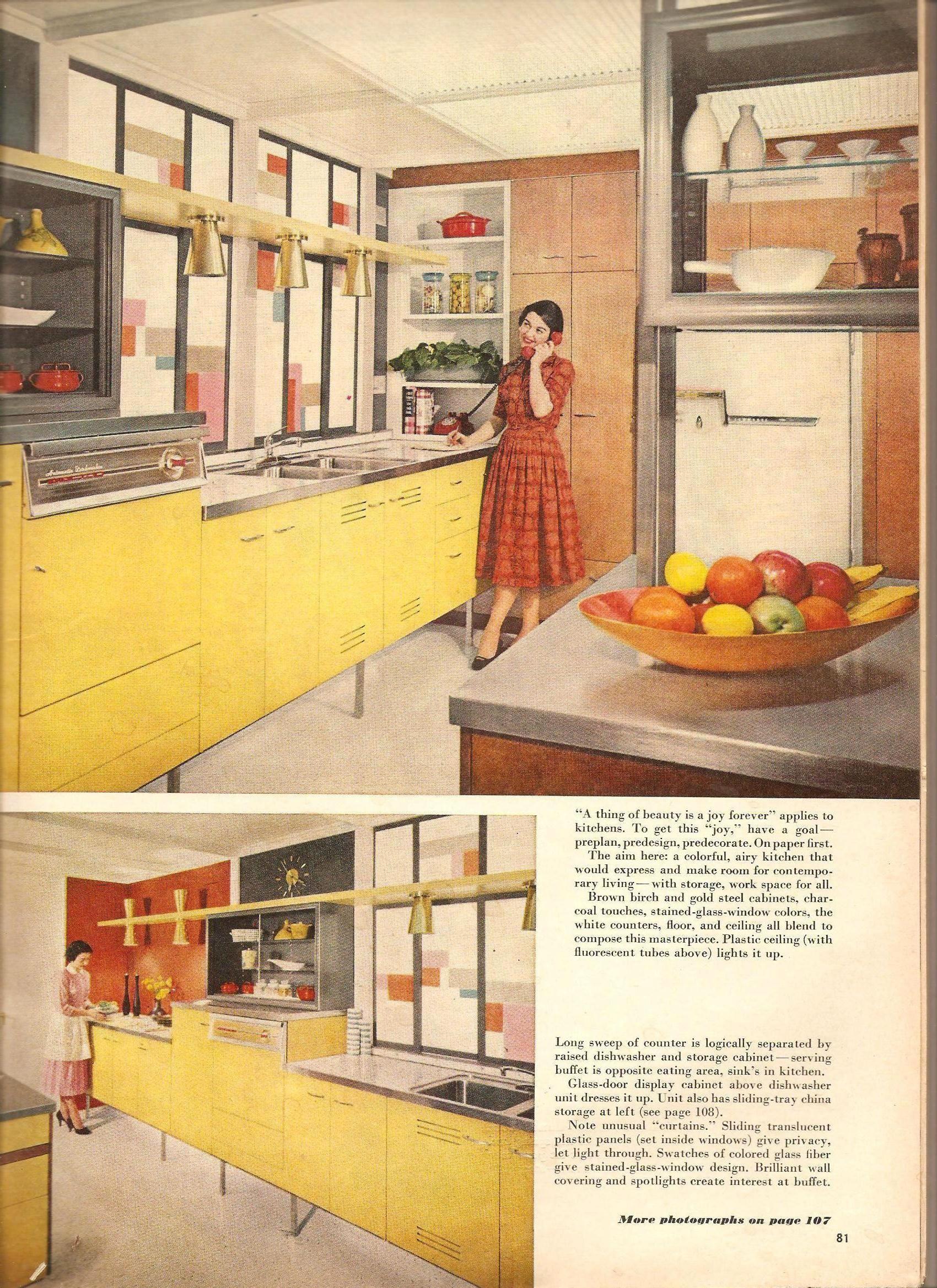 1957 Kitchen Mid Century Pickin S Vintage Kitchen
