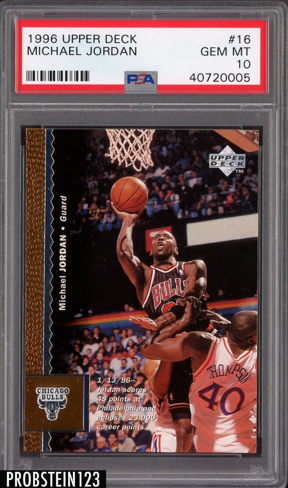 67062a72b6e712 1996 Upper Deck  16 Michael Jordan PSA 10 GEM MT  MichaelJordan